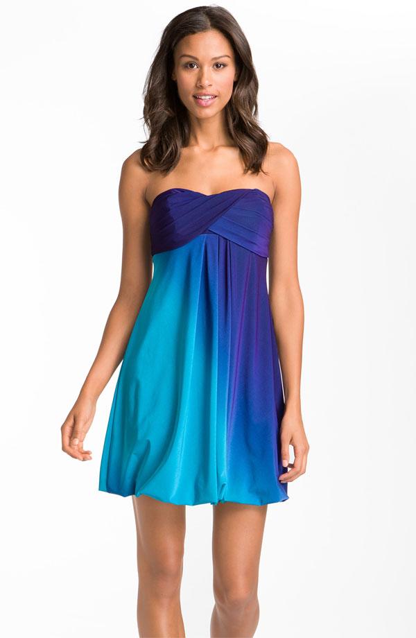 ombre xscape strapless dress via nordstroms